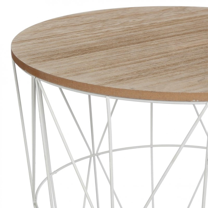 Table d 39 appoint design kumi 41cm blanc for Table basse d appoint