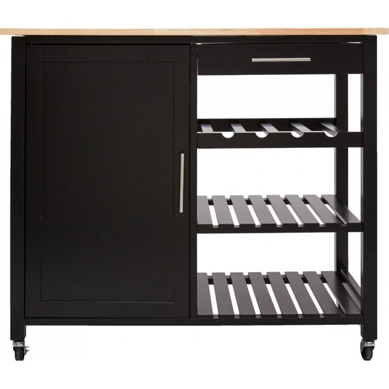 desserte de cuisine claude 100cm noir. Black Bedroom Furniture Sets. Home Design Ideas