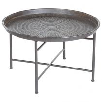 "Table d'Appoint Design ""Instants Nature"" 65cm Gris"