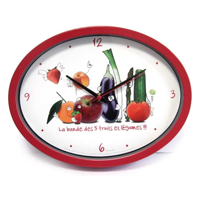 horloge cuisine quotludikquot rouge