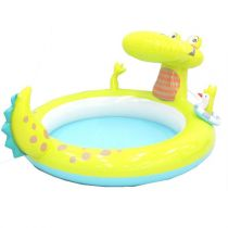 "Piscinette Gonflable Enfant ""Fontaine Alligator"" Vert"