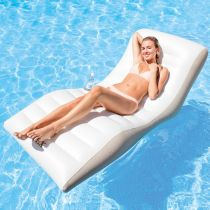 """Matelas Gonflable Adulte """"Lounge"""" Blanc"""