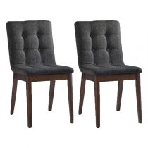 "Lot de 2 Chaises Design ""Terra"" Marron"