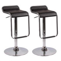 "Lot de 2 Tabourets de Bar ""Cosmo"" Noir"