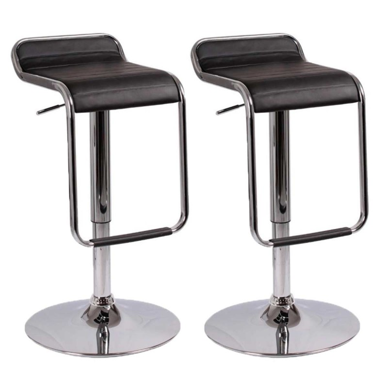 lot de 2 tabourets de bar cosmo noir. Black Bedroom Furniture Sets. Home Design Ideas