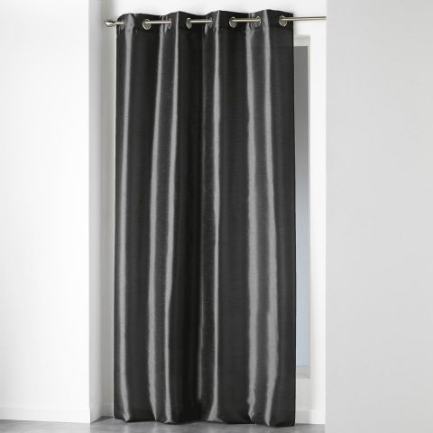 rideau oeillets shana 140x240cm gris anthracite. Black Bedroom Furniture Sets. Home Design Ideas