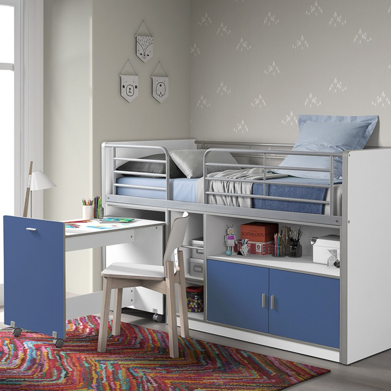 lit compact enfant bonny bleu. Black Bedroom Furniture Sets. Home Design Ideas