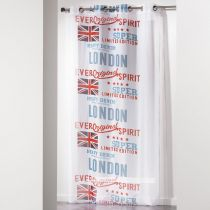 "Rideau Voilage ""City London"" 140x240cm Blanc"