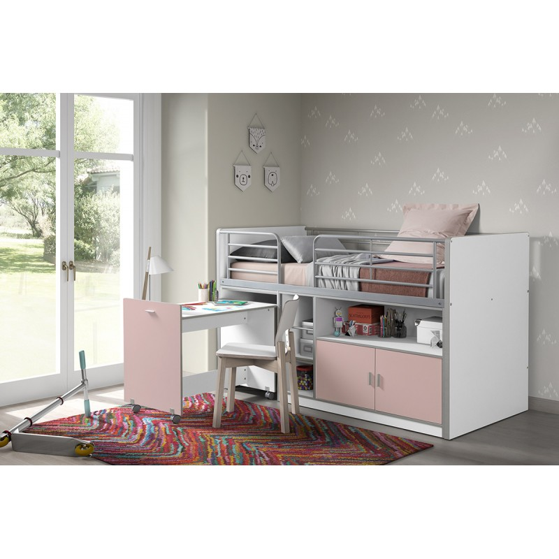 lit compact enfant bonny rose. Black Bedroom Furniture Sets. Home Design Ideas