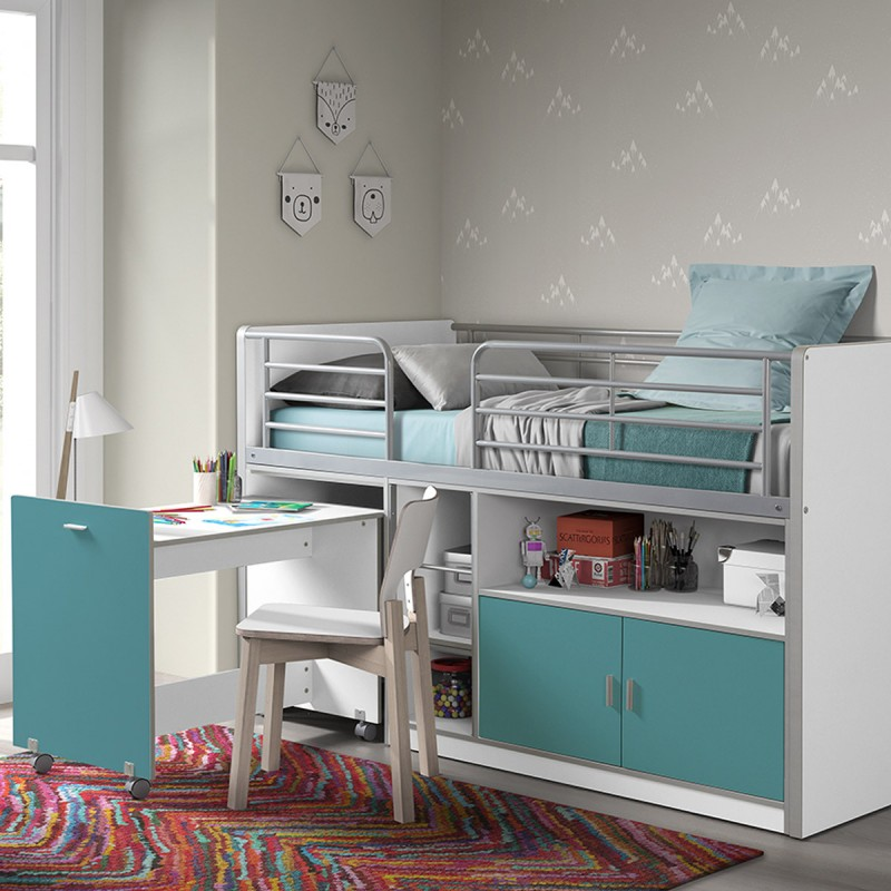 lit compact enfant bonny turquoise. Black Bedroom Furniture Sets. Home Design Ideas