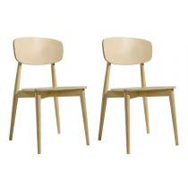 "TemaHome - Lot de 2 Chaises Design ""Sally"" 87cm Chêne"