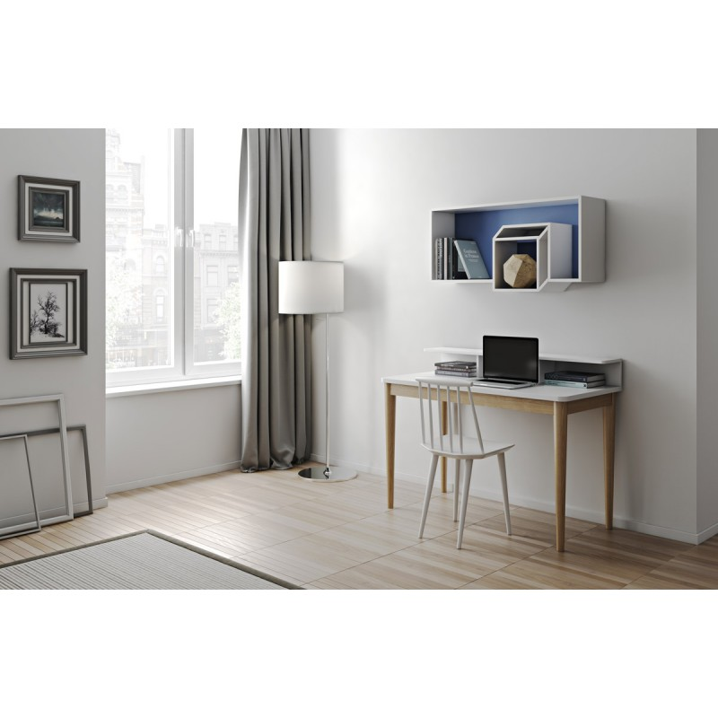 temahome tag re murale cube cubic 100cm bleu fonc blanc. Black Bedroom Furniture Sets. Home Design Ideas