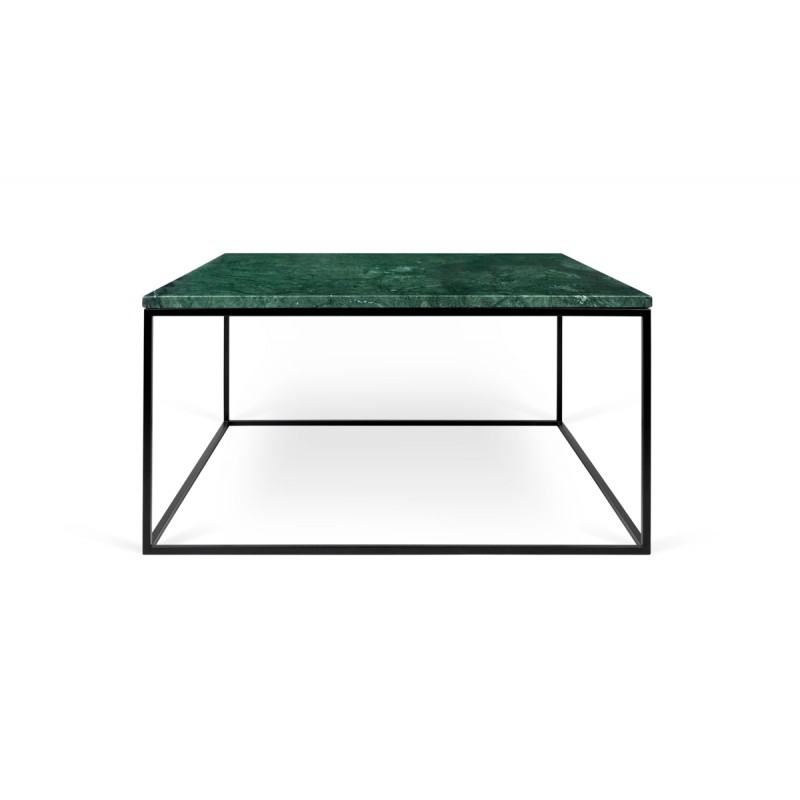 temahome table basse gleam 75cm marbre vert m tal noir. Black Bedroom Furniture Sets. Home Design Ideas
