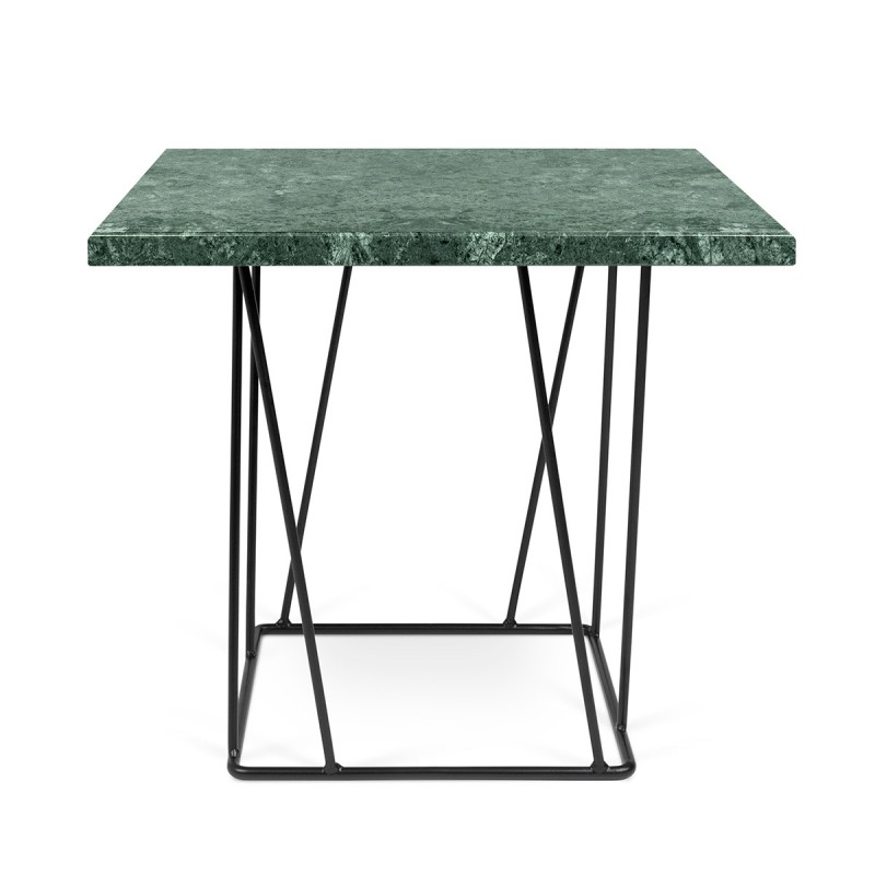 temahome table d 39 appoint design helix 50cm marbre vert m tal noir. Black Bedroom Furniture Sets. Home Design Ideas