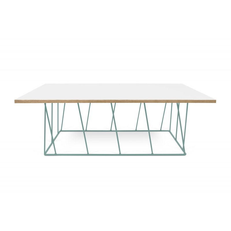 Temahome table basse helix 120cm blanc mat m tal for Table basse scandinave vert d eau