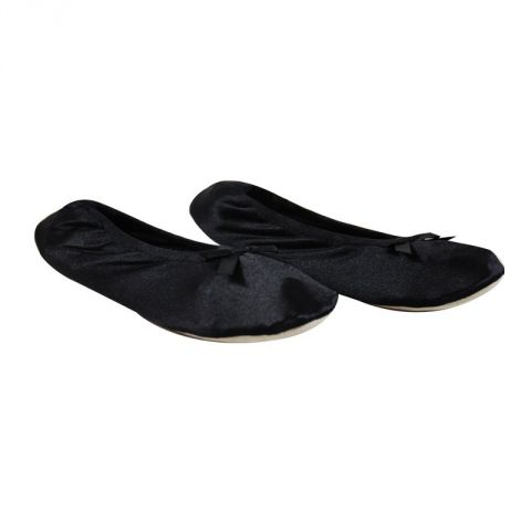 Ballerines Satin Noir