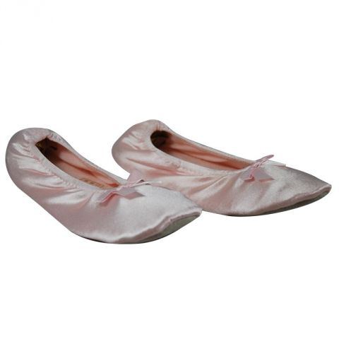 Ballerines Satin Rose