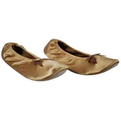 Ballerines Satin Doré