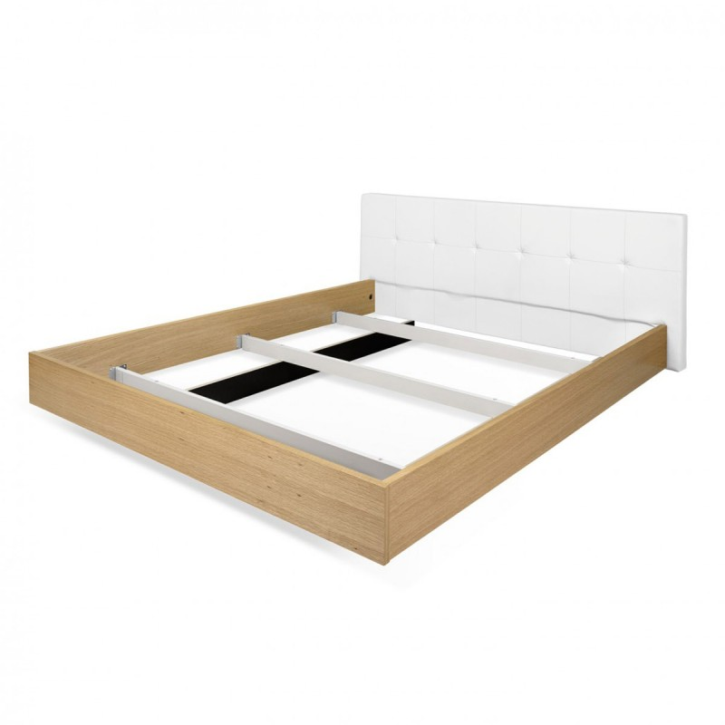 temahome lit supsendu ch ne float 180x200cm t te de lit blanc. Black Bedroom Furniture Sets. Home Design Ideas