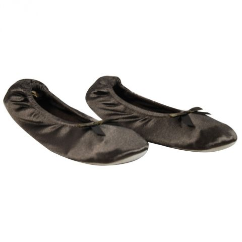Ballerines Satin Marron