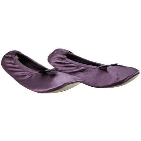 Ballerines Satin Prune