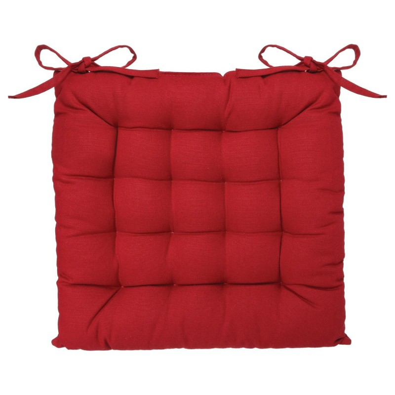 coussin de chaise 38x38cm rouge. Black Bedroom Furniture Sets. Home Design Ideas