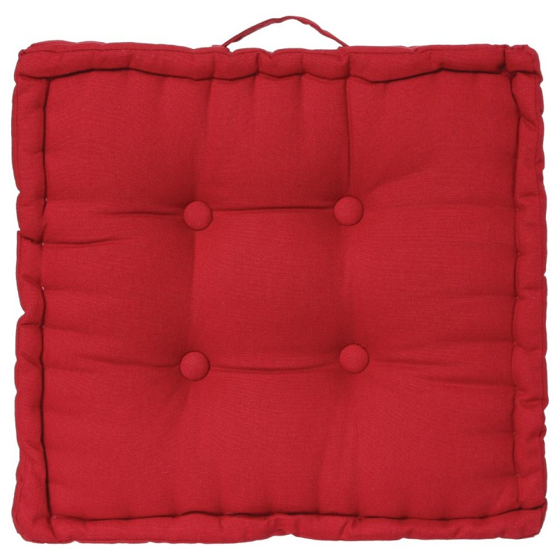 coussin de sol 40x40cm rouge. Black Bedroom Furniture Sets. Home Design Ideas