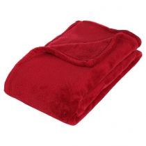 Plaid Polaire Microfibre 125x150cm Rouge