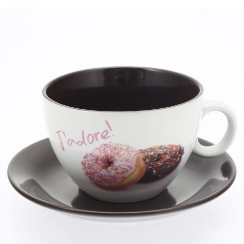 "Tasse & Soucoupe Gourmande ""Donuts"""