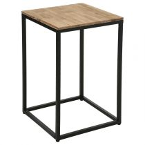"Table d'Appoint Design ""Edena"" 65cm Marron"