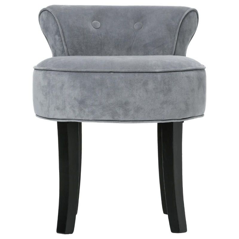 tabouret avec dossier firmin gris. Black Bedroom Furniture Sets. Home Design Ideas