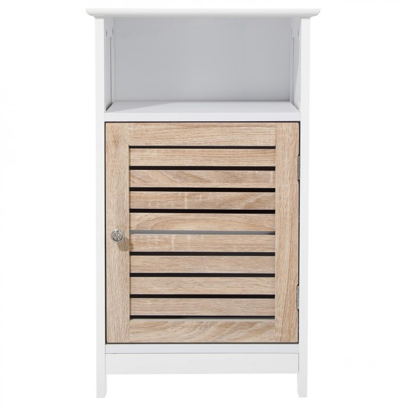 Meuble bas 1 porte patine blanc - Meuble blanc patine ...