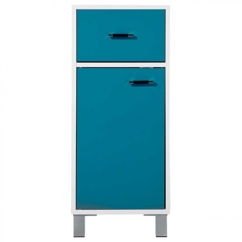 meuble bas 1 porte gloss turquoise. Black Bedroom Furniture Sets. Home Design Ideas