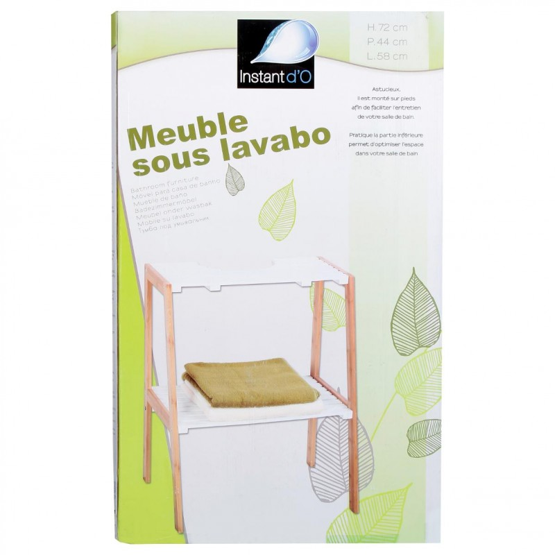 meuble sous lavabo bambou naturel. Black Bedroom Furniture Sets. Home Design Ideas