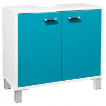 "Meuble Sous Lavabo ""Gloss"" Turquoise"