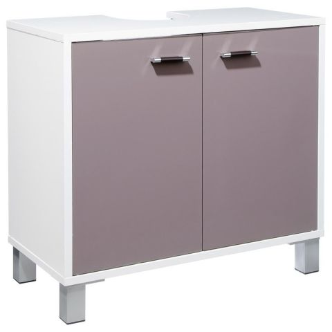 """Meuble Sous Lavabo """"Gloss"""" Taupe"""