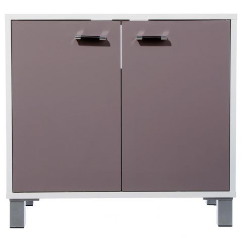 "Meuble Sous Lavabo ""Gloss"" Taupe"