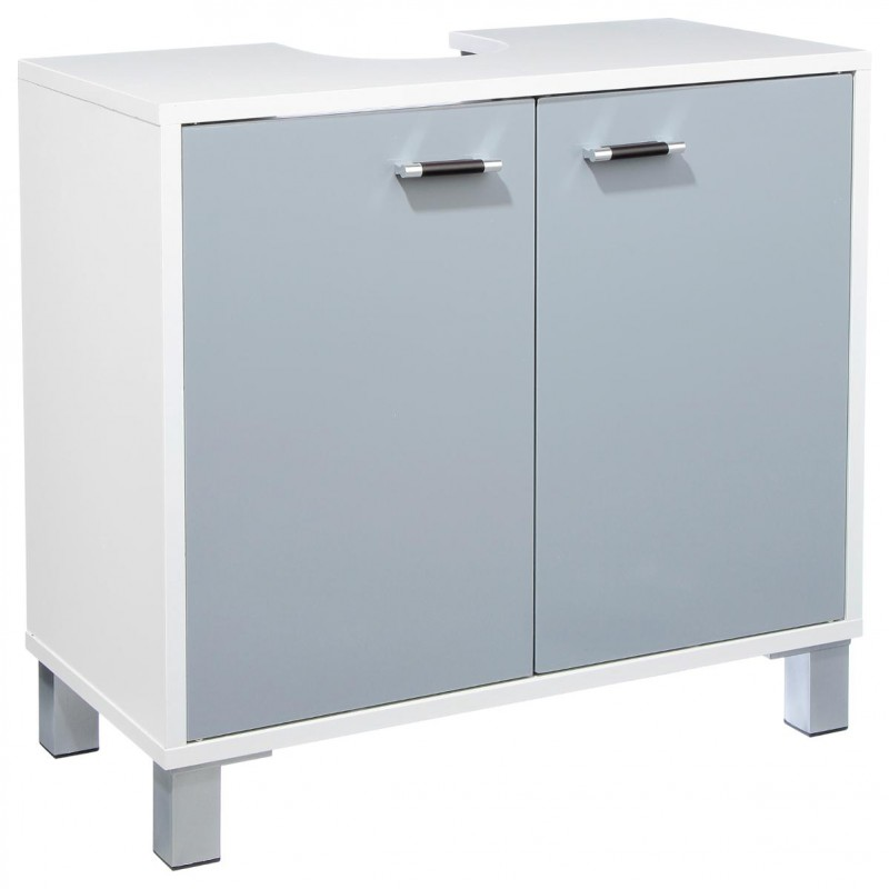 Meuble sous lavabo gloss gris for Lavabo plus meuble