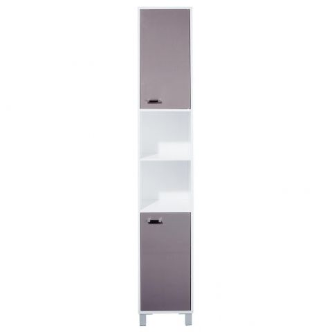 """Colonne 2 Portes """"Gloss"""" Taupe"""