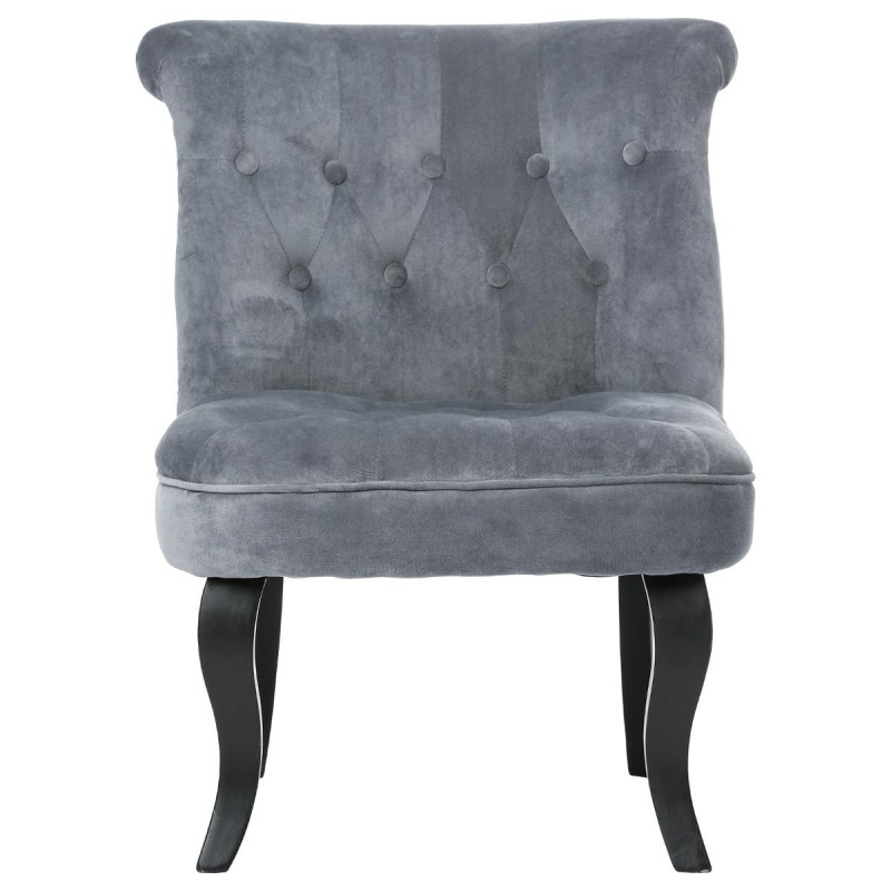 fauteuil crapaud calixte velours gris. Black Bedroom Furniture Sets. Home Design Ideas