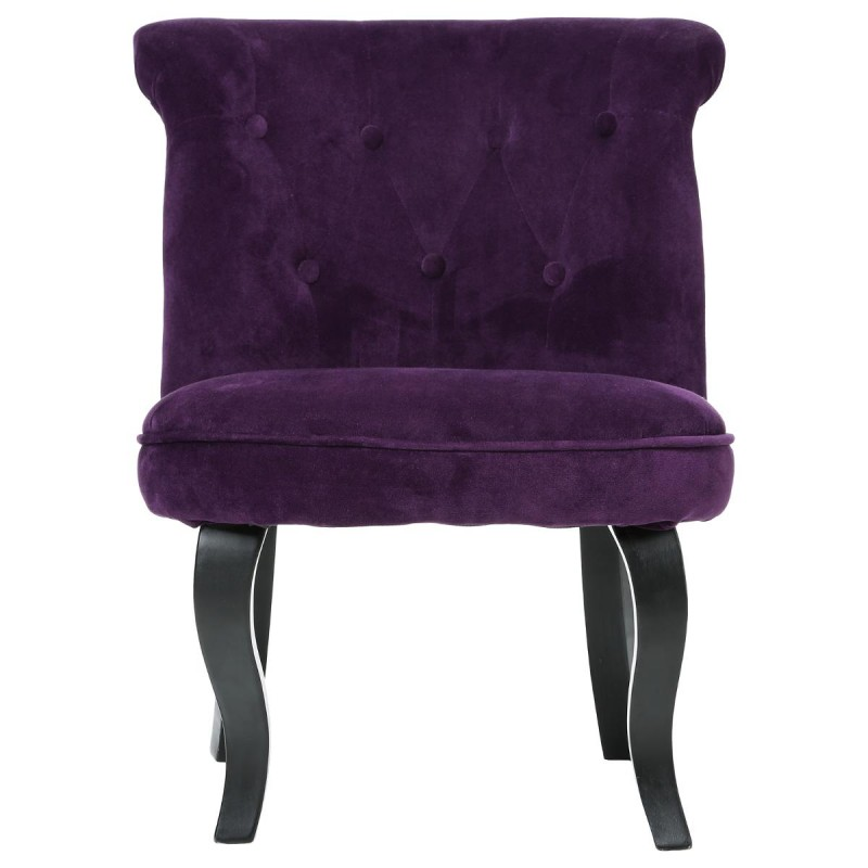 fauteuil crapaud calixte velours violet. Black Bedroom Furniture Sets. Home Design Ideas