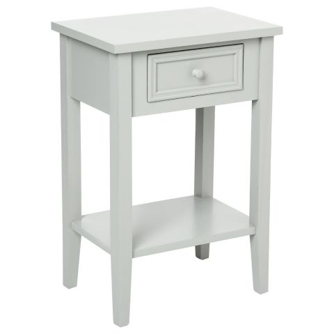 Table de Chevet Charme 67cm Gris Clair