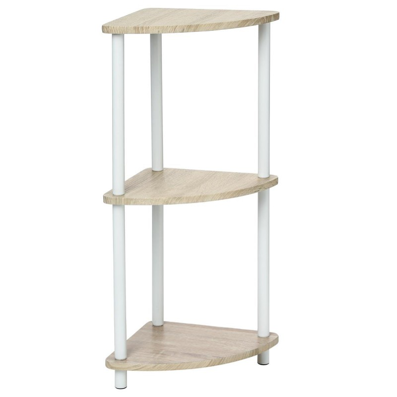 Etag re d 39 angle 3 plateaux bivoak beige for Etagere angle salon