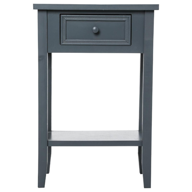 Table de chevet charme 67cm gris fonc for Table de chevet zen