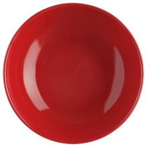"Lot de 6 Assiettes Creuses ""Ronde"" Rouge"