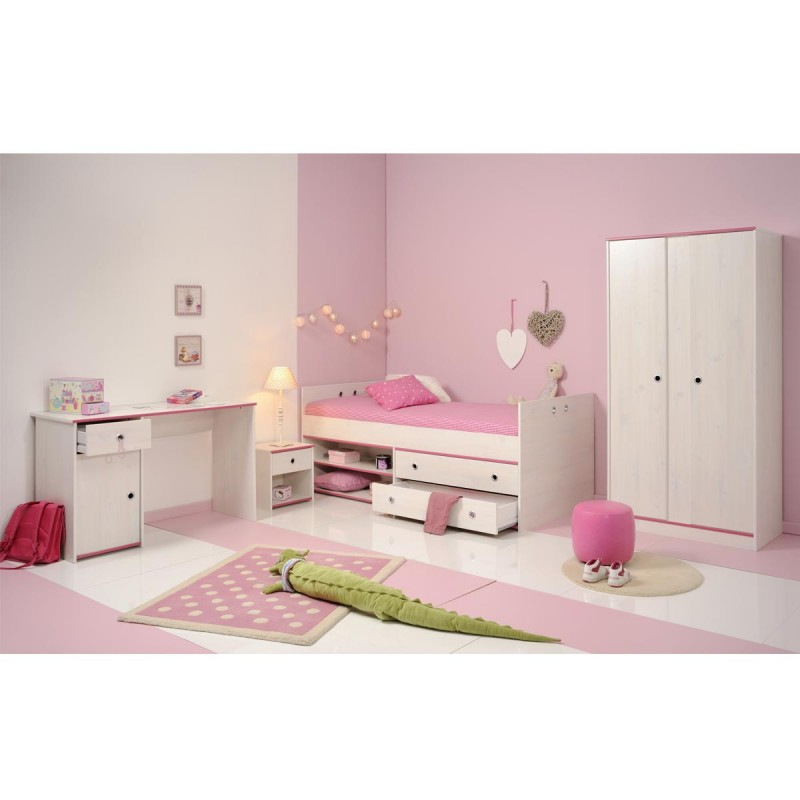bureau enfant cameo rose ou bleu. Black Bedroom Furniture Sets. Home Design Ideas