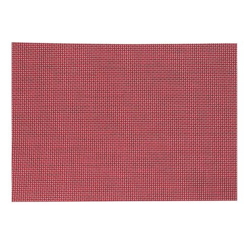 "Set de Table ""Texaline"" Rectangulaire Rouge"