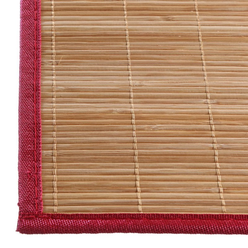 Set de table 30x45cm bambou naturel rouge for Set de table en bambou