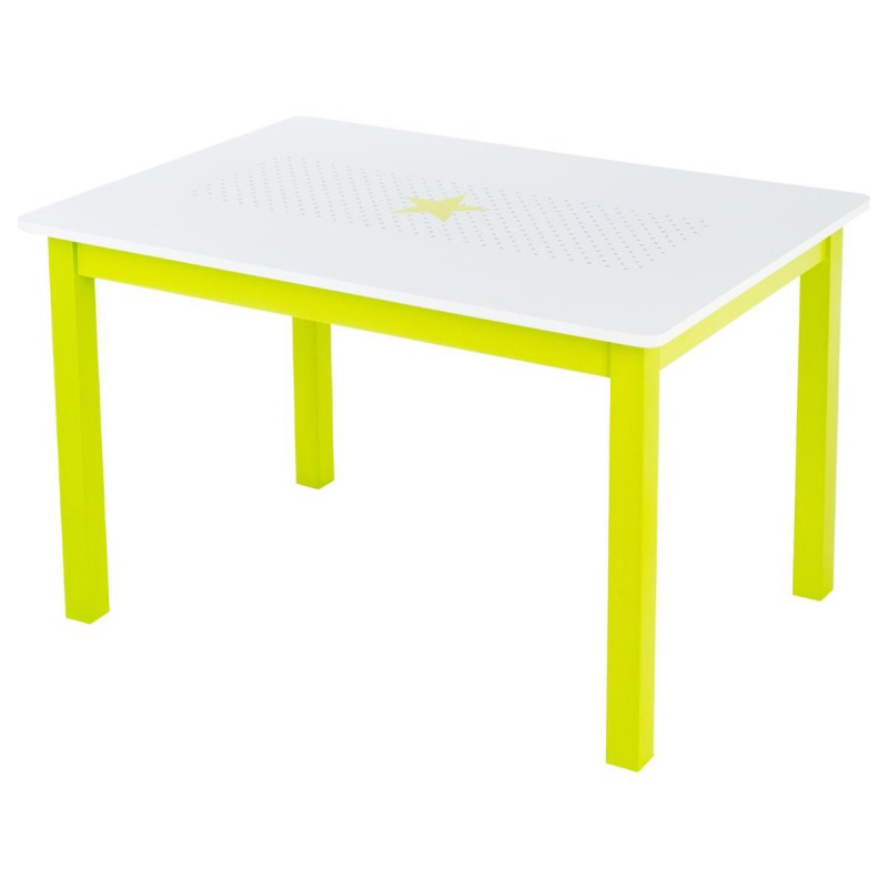 Table bureau enfant bois abc vert for Table bureau bois