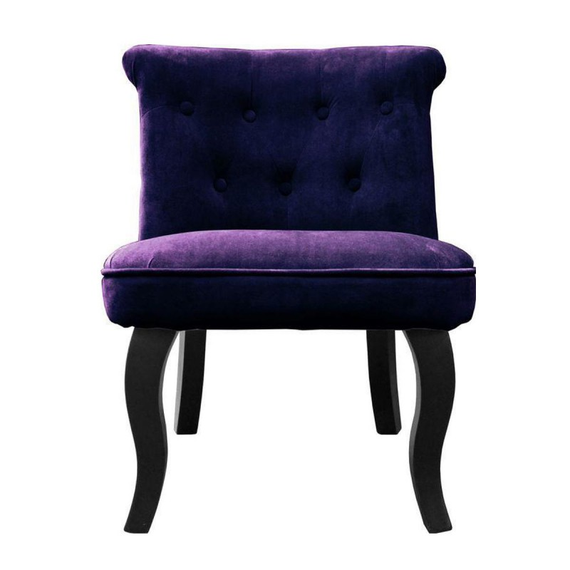 fauteuil design velours calixte 63cm violet. Black Bedroom Furniture Sets. Home Design Ideas